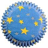PME - Caissettes à Cupcakes en Papier à Étoiles Dorées, Dimensions Standard, Lot de 60