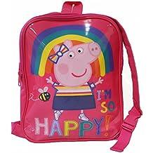 Peppa Pig Reversible Backpack Mochila infantil, 31 cm, 6 liters, Rosa (Pink