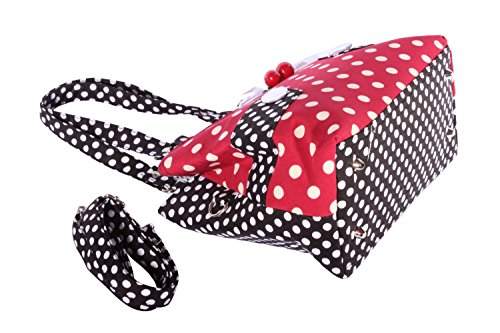 Polka Dots Uniform rockabilly RETRO Kirschen Handtasche Tasche -