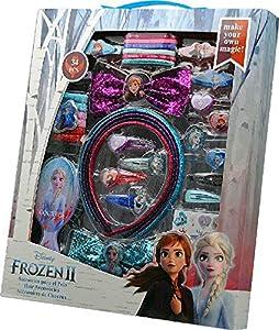 Disney Frozen- Set 34 pzas Pelo con Cepillo 2 Sets de cosmética y joyería (Kids 20564)