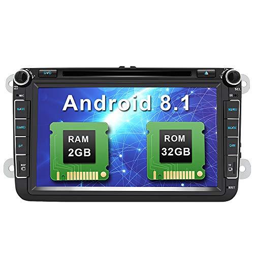 Android 8.1 Autoradio 8 Pulgadas 2 DIN Coche Estéreo