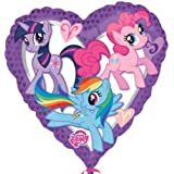 My Little Pony Birthday Party 18 inch Heart Shape Non Message Foil Balloon