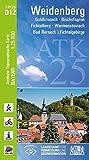 ATK25-D12 Weidenberg (Amtliche Topographische Karte 1:25000): Goldkronach, Bischofsgrün, Fichtelberg, Warmensteinach, Bad Berneck i.Fichtelgebirge (ATK25 Amtliche Topographische Karte 1:25000 Bayern)