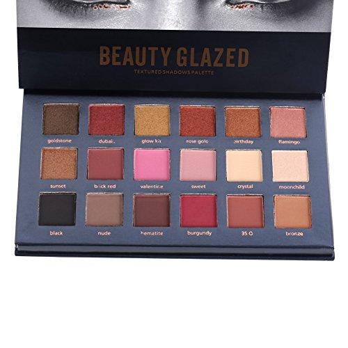 ROPALIA 18 Colors Eyeshadow Palette Matte Glitter Pigment Textured Eye Shadow Beauty Makeup