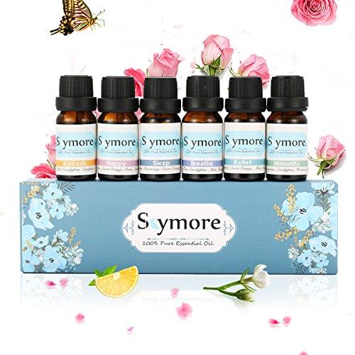 Skymore Top 6 Set Essenziale Olio, 100% Olio Aromaterapico per Diffusore, Olio...
