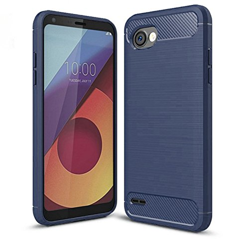LG Q6Fall, LG G6+ Fall, LG Q6Plus Fall-suensan TPU Stoßdämpfung Technologie erhöhter Um Hülle Schutzhülle Case Cover für LG Q6Mini, TPU Blue