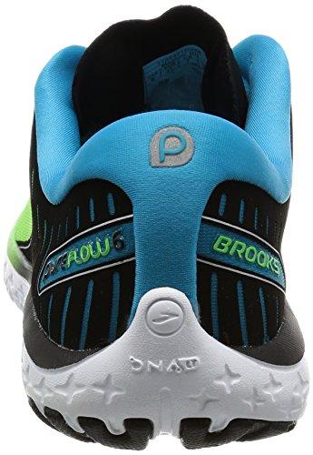 Brooks Pureflow 6, Scarpe da Corsa Uomo Multicolore (Greenflash/Black/Hawaiianocean)