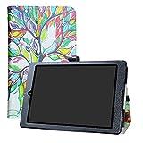 LFDZ Medion Lifetab P9701 P9702 Android Tablet Hülle Slim Folio Klapp Ständer PU Leder Tasche für Medion Lifetab P9701 P9702 24,6 cm Tablet