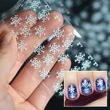 Schneeflocke Nagel Decals Weihnachten White Transfer Nail Sticker von UmayBeauty