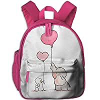 Elephant and Rabbit Double Zipper Waterproof Children Schoolbag Backpacks with Front Pockets for Teens Boy Girl