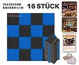 Ace Punch 16 Stück SCHWARZ UND BLAU Farbkombination Egg Crate