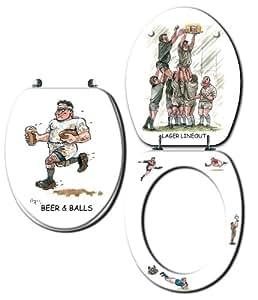 Loo Prints. Rugby Novelty Toilet Seat by Looprints