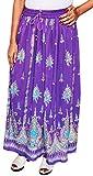 Damen Lange Röcke Pailletten Indischen Knöchellang Maxi Indien Kleidung (Violette)