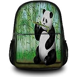Luxburg® Design Mochila. bolsa multifuncional. mochila escolar. mochila deportiva. Motivo: Oso Panda