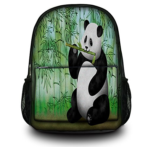 Luxburg® Design sac à dos multifonction cartable collège backpack, motif: Ours panda