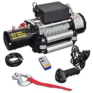 Treuil électrique 12V Traction 5909 kg + Télécomandes dont 1 sans fil+ Câbles