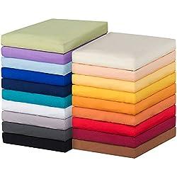 MOON-Luxury Spannbettlaken Spannbetttuch Jersey Stretch 230g/m² für Wasserbetten, Boxspringbetten und herkömmliche Matratzen (graphit, 120x200 - 120x220)