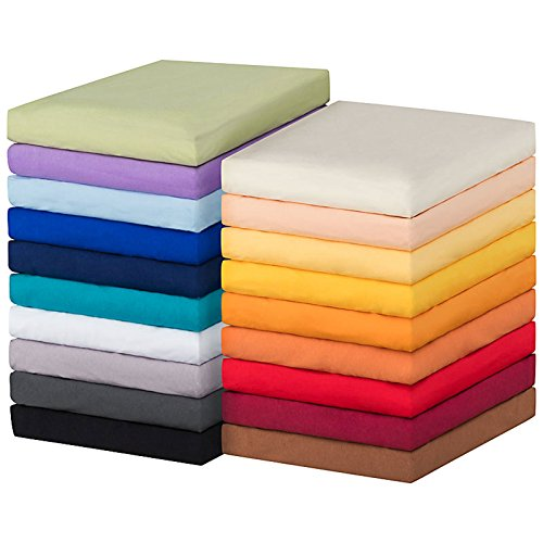 MOON-Luxury Spannbettlaken Spannbetttuch Jersey Stretch 230g/m² für Wasserbetten, Boxspringbetten und herkömmliche Matratzen