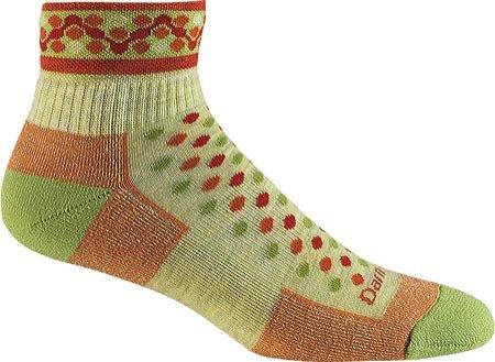 Darn Tough Vermont Damen 1/4Merino Wolle Kissen Wandern Socken, damen, Ricrack Flame (Smartwool Snowboard Socke)