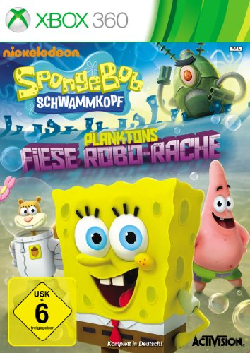 Spongebob Schwammkopf: Planktons Fiese Robo-Rache (Für Spongebob Spiele Xbox 360)