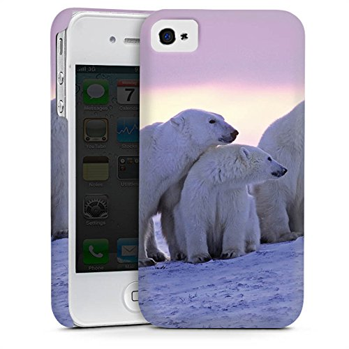 Apple iPhone 5s Housse étui coque protection Ours polaire Ours polaires Ours Cas Premium mat