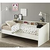 Funktionsbett 90*200 cm weiß Regalwand Kinderbett Jugendbett Bettliege Bett Jugendzimmer