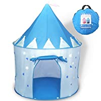 WER Princess Castle Play Tent with Glow in the Dark Stars, convinientlly folds in to a Carrying Case, your kids will enjoy this Foldable Pop Up pink play tent/house toy for Indoor & Outdoor Use