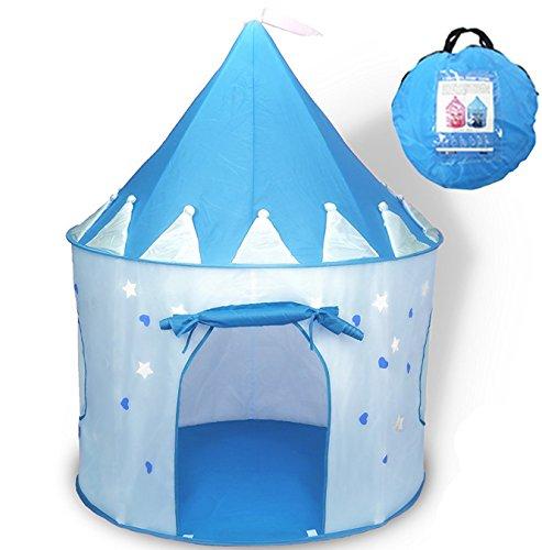 WER Blau Princess Castle Kinder Spielzelt Kinder Playhouse Innen- und Outdoor-Nutzung