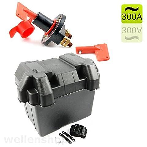 Batteriebehälter + 12 Volt Batteriehauptschalter 300 A