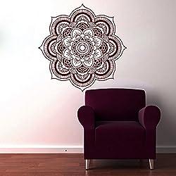Adhesivos de pared Mandala indio patrón Yoga Oum Om vinilo decoración del hogar arte murales dormitorio bohemio viernes negro venta mn237