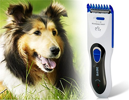 Baide Bd-300 Professional Electric Animal Pet Dog Hair Cutting Trimmer Clipper (White+Blue)  available at amazon for Rs.1186