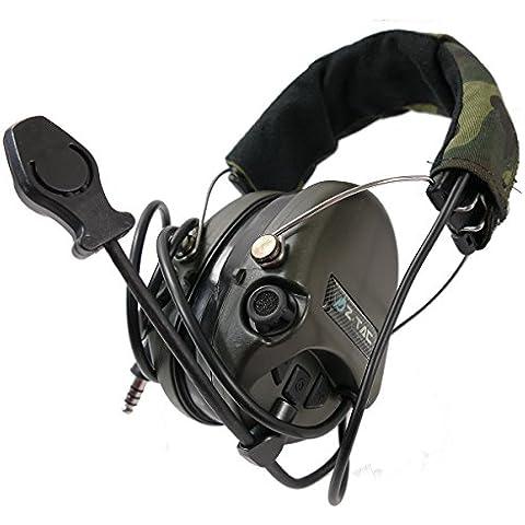 z-tactical SRD Sordin–Cuffie auricolari riduzione attiva del rumore Airsoft PTT
