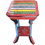 APKAMART Handcrafted Wooden Corner Side Stool - 21 Inch - Corner End Table for Home Decor, Room Decor and Gifts