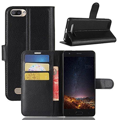ECENCE Handyhülle Schutzhülle Case Cover kompatibel für Doogee X20 Handytasche Schwarz 11030107