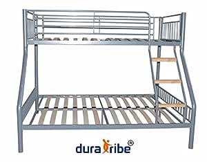 duratribe lit superpos triple en m tal argent certifi en747 1 cuisine maison. Black Bedroom Furniture Sets. Home Design Ideas