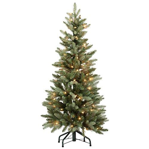 Holiday Peak Weihnachtsbaum aus Fichte, beleuchtet, 122 cm, Einheitsgröße, Grün/Weiß