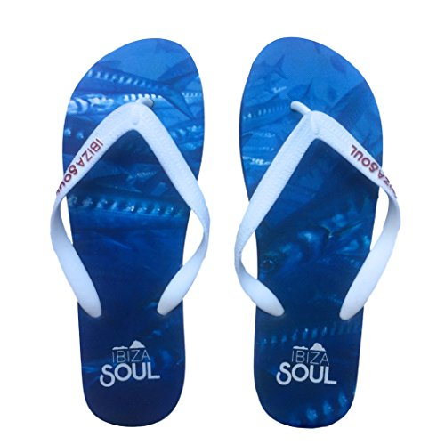 Ibiza Soul Mens Gents Boys Unisex Flip Flops Holiday Summer Toe Post...