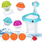 BBLIKE Juguetes Bañera - Juegos de Agua Orgsnizador Baño Mini Canasta a Los Niños Niña Juguetes Educativos