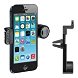 kwmobile Support ventilation pour Apple iPhone SE / 5 / 5S - Support automobile pour fente d'aération en noir...