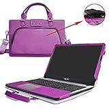 Asus X540SA X540LA Housse,2 en 1 spécialement conçu Étui de protection en cuir PU + sac portable Sacoche pour 15.6' Asus VivoBook X540SA X540LA A540LA series ordinateur,Violet