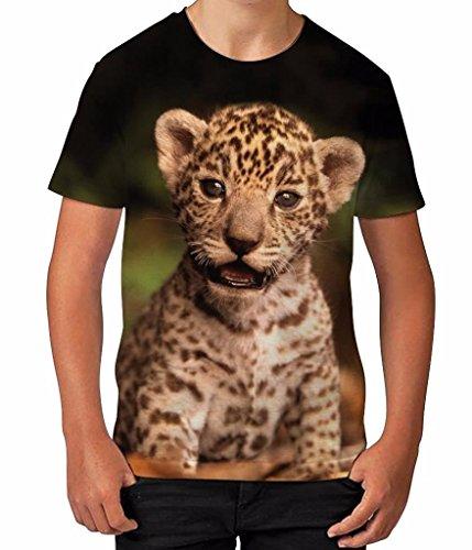 jaguar-cub-animal-wild-cat-novelty-parent-son-boys-unisex-kids-child-t-shirt
