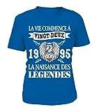 TEEZILY T-Shirt Certaines Filles Aiment Le Rugby Les Vraies supportent Béziers Femme
