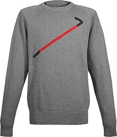 Musterbrand Half-Life Strick Pullover Herren Crowbar Sweatshirt Grau L (Alien Invasion Der Erde)