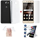*PACK INCASSABLE iPOMCASE®* COQUE SOUPLE GEL SILICONE INCASSABLE TRANSPARENTE + FILM PROTECTEUR INCASSABLE VERRE TREMPE HUAWEI Y5 2 , HUAWEI Y5II ,Huawei Honor 5, Huawei Honor Play 5, Huawei Honor 5 P