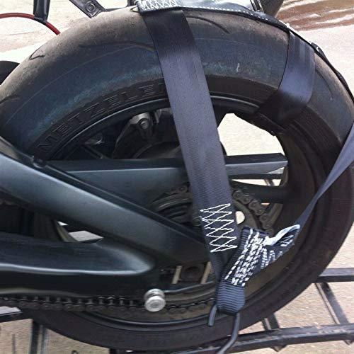 koiry Asegure la correa de transporte de la motocicleta Rueda trasera de amarre Banda de correas de poliéster resistente