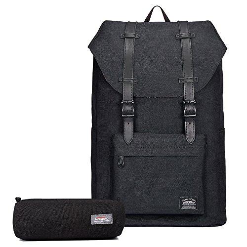 """KAUKKO Rucksack Damen Herren Vintage Reiserucksack für 14"""" Notebook Lässiger Daypacks Schultaschen"""