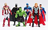 Bella marvel figures, 6 piece set marvel avengers super heroes,hulk,ironman,superman,captain america,thor,batman brand new