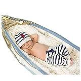 Neugeborene Baby Fotografie Requisiten Boy Girl Crochet Kostüm Outfits Mütze Navy Hose