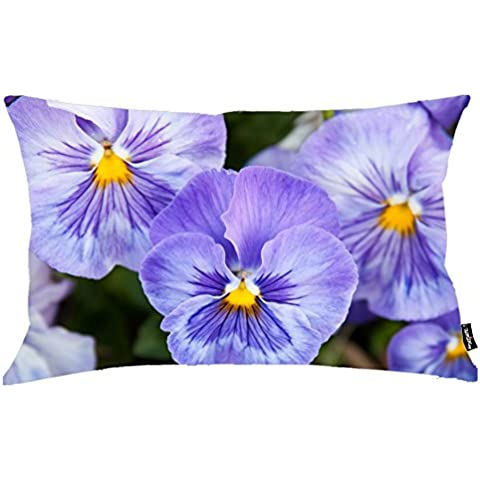 i FaMuRay Federa per Guanciale Standard, 20x26 Inch, Purple Pansies in the Garden