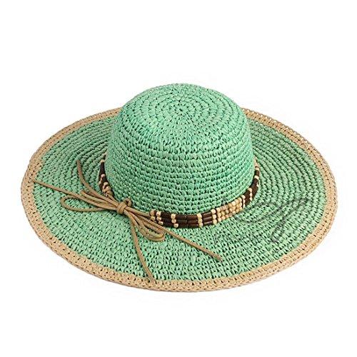 CHH Hat Im Sommer Haken Sonnenblende Pin grossen, runden Hut Strohhut,